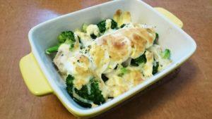 【MEC】鶏胸ブロッコリー卵マヨチーズ焼クックパッド