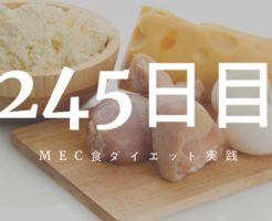 MEC食ダイエット245日目
