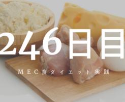 MEC食ダイエット246日目