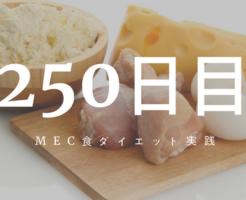 MEC食ダイエット250日目