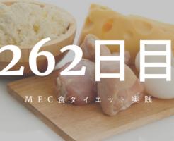 MEC食ダイエット262日目