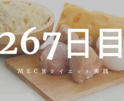 MEC食ダイエット267日目