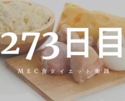 MEC食ダイエット273日目